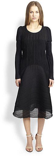 Chloé Flared Plisse Dress