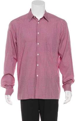 Prada Gingham Dress Shirt