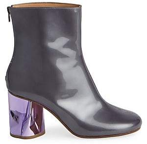 Maison Margiela Women's Patent Leather Crushed Heel Ankle Boots