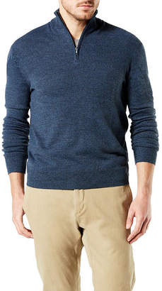 Dockers Mock Neck Long Sleeve Pullover Sweater