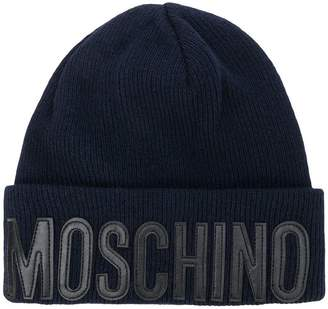 Moschino knitted logo hat