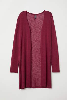 H&M Fine-knit Cardigan - Red