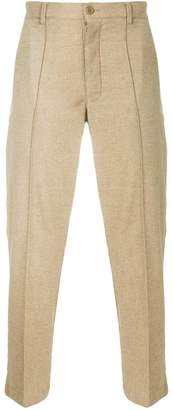 YMC straight leg trousers with raised seam detail