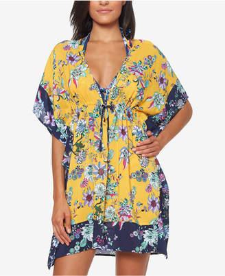 21683897e0 Jessica Simpson Border-Print Tunic Cover-Up Women Swimsuit