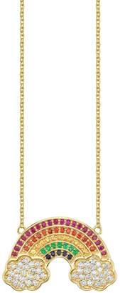 Sydney Evan Yellow Gold Rainbow Necklace