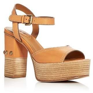 See by Chloe Women's Leather High-Heel Platform Sandals