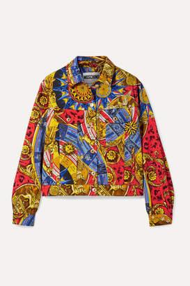 Moschino Printed Denim Jacket - Red