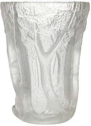 One Kings Lane Vintage Czechoslovakian Frosted Glass Vase