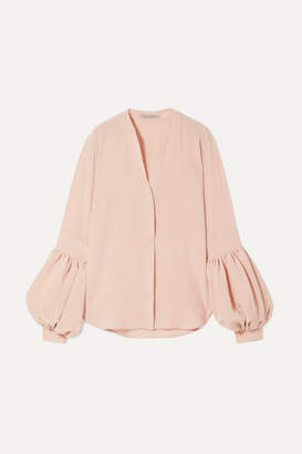 Silvia Tcherassi Barbara Silk Crepe De Chine Blouse - Antique rose