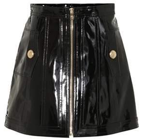Balmain Patent leather miniskirt