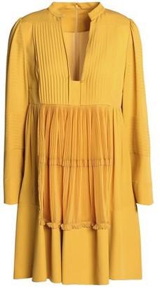 Valentino Pleated Silk-crepe De Chine Mini Dress