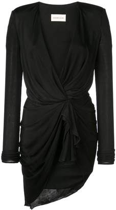 Alexandre Vauthier v neck mini dress