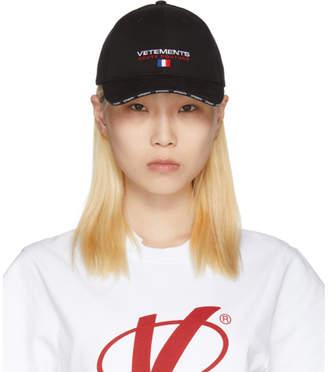 Vetements Black Haute Couture Logo Baseball Cap