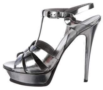 Saint Laurent Metallic Leather Sandals