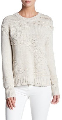 Inhabit Embroidery Crew Neck Sweater $396 thestylecure.com