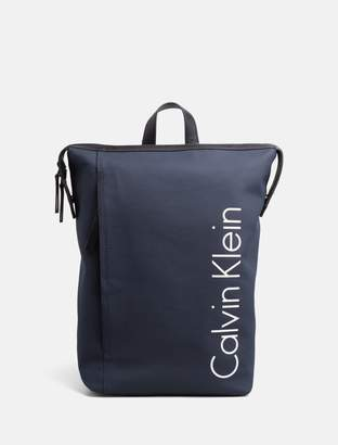 Calvin Klein quad stitch logo backpack