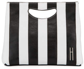 Hayward 1712 Striped Smooth Basket Clutch Bag
