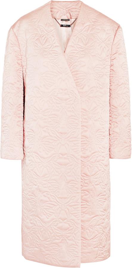 Alexander McQueenAlexander McQueen Quilted silk coat