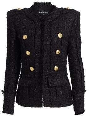 Balmain Double-Breasted Tweed Jacket