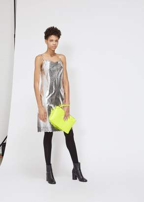 MM6 MAISON MARGIELA Silver Coated Slip Dress