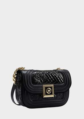 Versace Icon Quilted and Patent Handbag