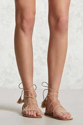 FOREVER 21+ Faux Suede Ankle-Wrap Sandals $15.90 thestylecure.com