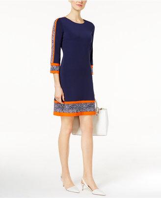 MICHAEL Michael Kors Border-Print Shift Dress $98 thestylecure.com