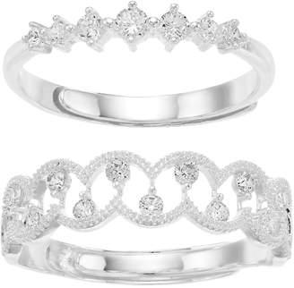 Mother Daughter Cubic Zirconia Ring Set