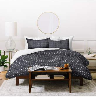 Deny Designs Holli Zollinger Bogo Denim Rain Twin Duvet Set Bedding