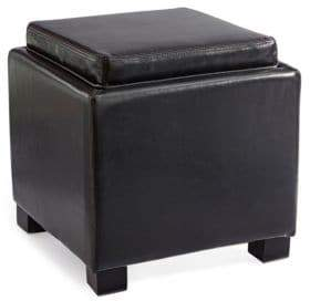 Distinctly Home Abel Bonded Leather Flip Tray Ottoman