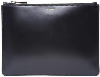 Jil Sander Envelope Lg Smooth-leather Clutch