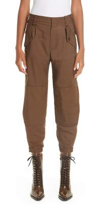 Chloé Fluid Crop Cargo Pants