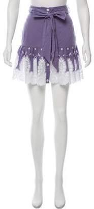 Miguelina Drop Waist Mini Skirt