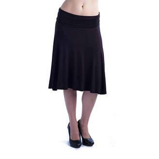 24/7 Comfort Apparel Foldover Womens A-Line Skirt