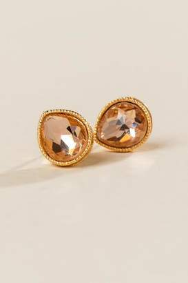 francesca's Parker Teardrop Stud Earrings - Champagne