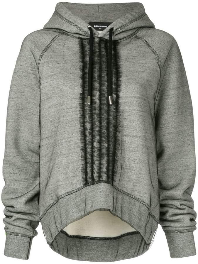 ruffle-trimmed hoodie