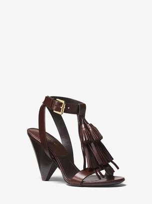 Michael Kors Rumi Tassel Leather Sandal