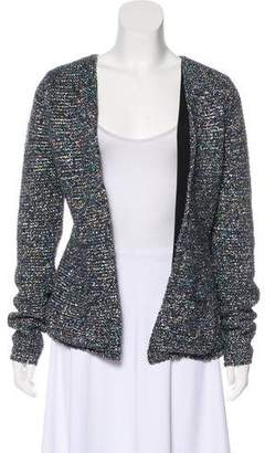 Theyskens' Theory Metallic Knit Casual Jacket