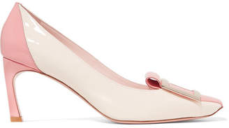 12afecbe387d Roger Vivier Trompette Tongue Two-tone Patent-leather Pumps - Blush