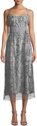 Max Studio Floral Lace Sleeveless Maxi Dress
