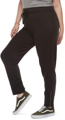So Juniors' Plus Size SO Zipper Cuff Jogger Sweatpants