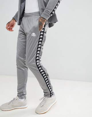 Kappa Joggers With Side Taping In Gray