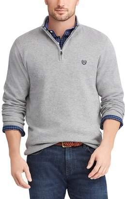 Chaps Big & Tall Regular-Fit Textured Quarter-Zip Pullover