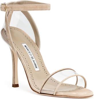 Manolo Blahnik Dandolo beige suede sandals