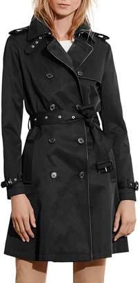 Ralph Lauren Contrast Piped Trench Coat