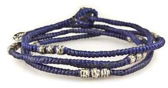 M. Cohen Knotted Wrap Bracelet in Blue