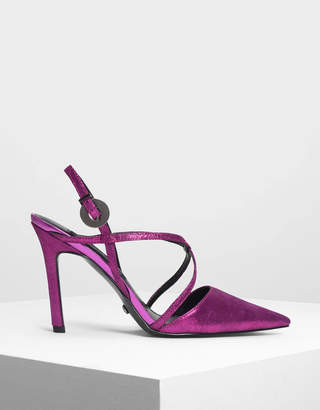 Charles & Keith Strappy Criss Cross Leather Heels