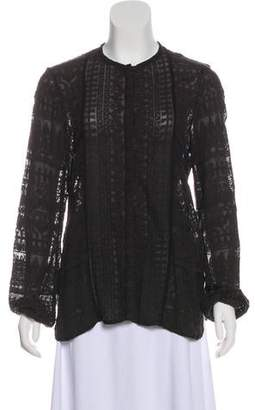 Isabel Marant Embroidered Button-Up Top