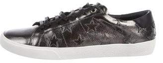 Saint Laurent Patent Leather Low-Top Sneakers w/ Tags