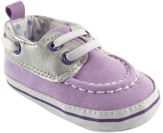 Baby Vision Luvable Friends Slip-on Shoes, Lilac and Gray, 0-18 Months